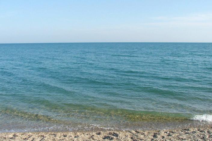 Пляж пансионата Черноморец