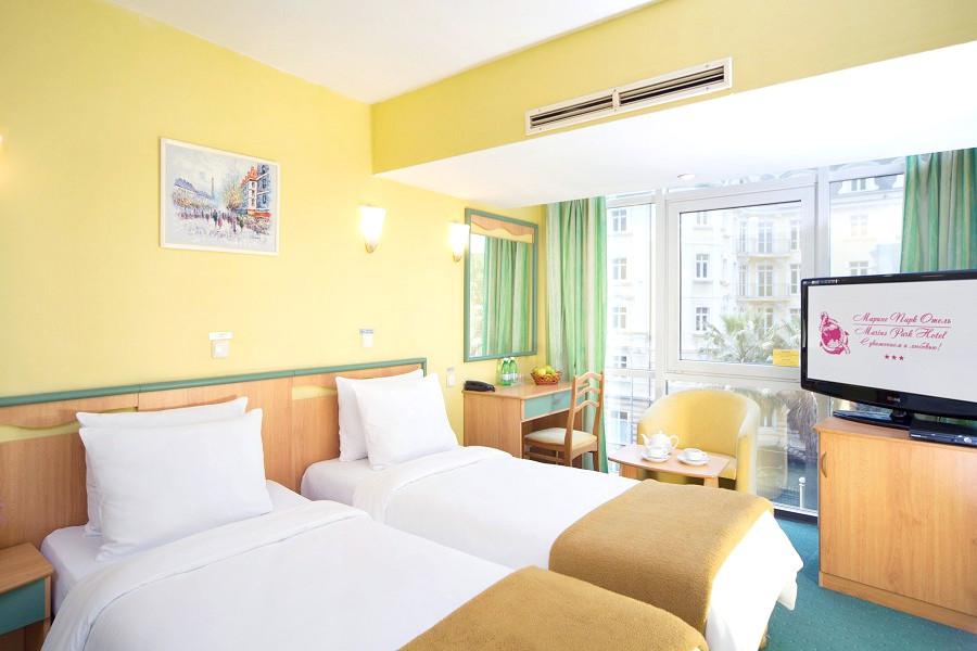 Стандарт с односпальными кроватями в City Park Hotel