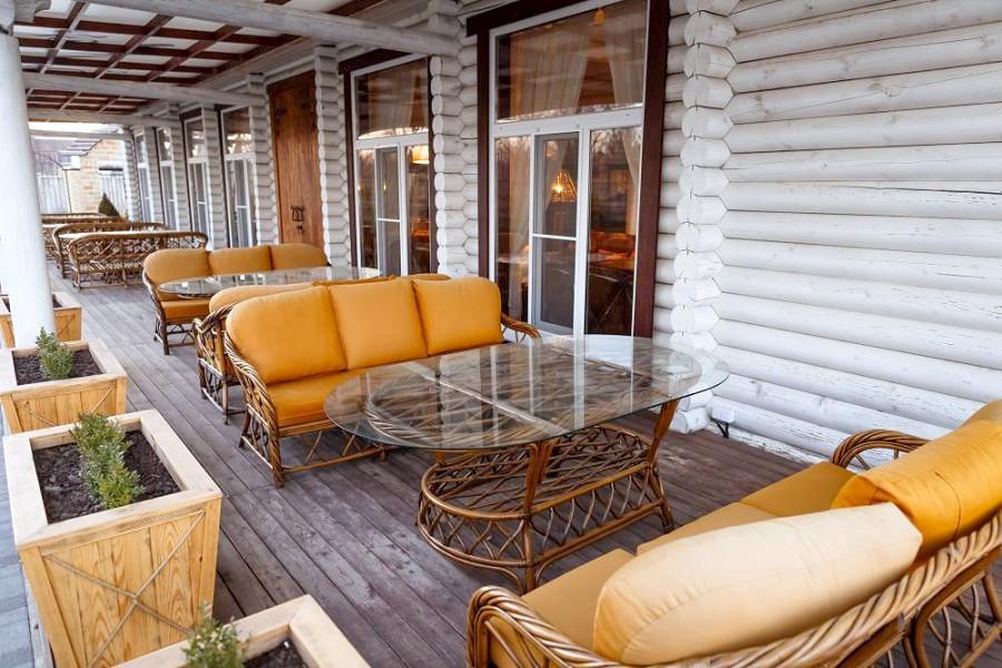 Веранда ресторана отеля Del Mare, Анапа