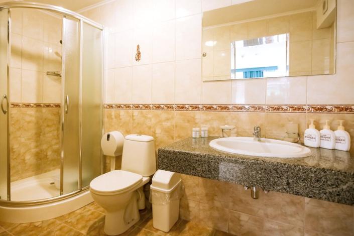 Туалетная комната номера Комфорт в парк-отеле Демерджи