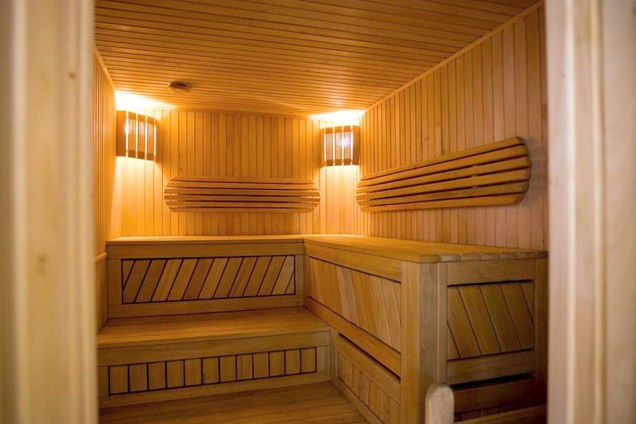 Финская сауна в спа-комплексе парк-отеля Демерджи