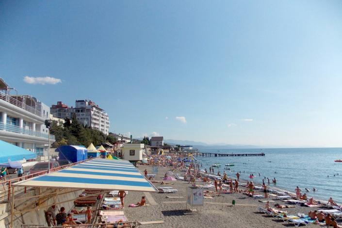 Пляж в Алуште, Крым