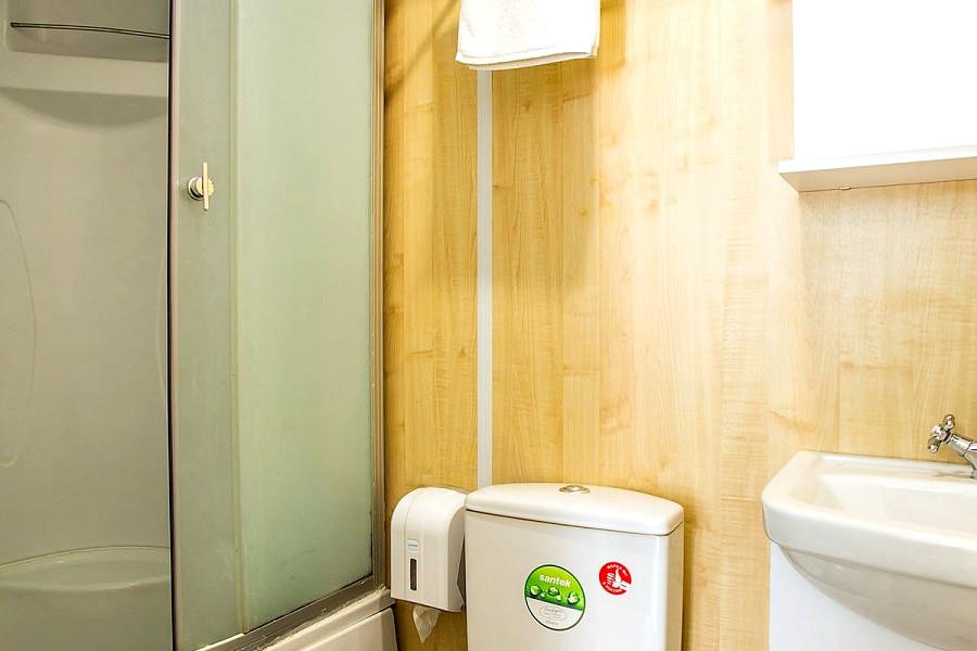 Туалетная комната номера Эконом в Норвежском домике пансионата Dublin & Dolphin