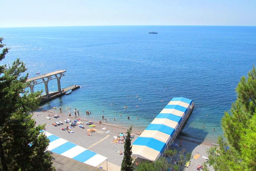 Пляж санатория Дюльбер