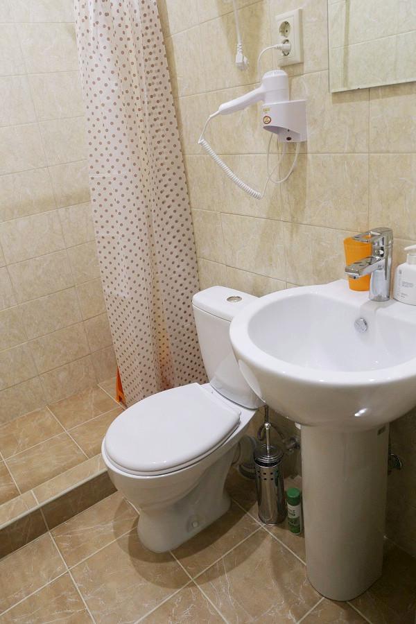 Туалетная комната номера Стандарт отеля ДжаНат, Сухум, Абхазия