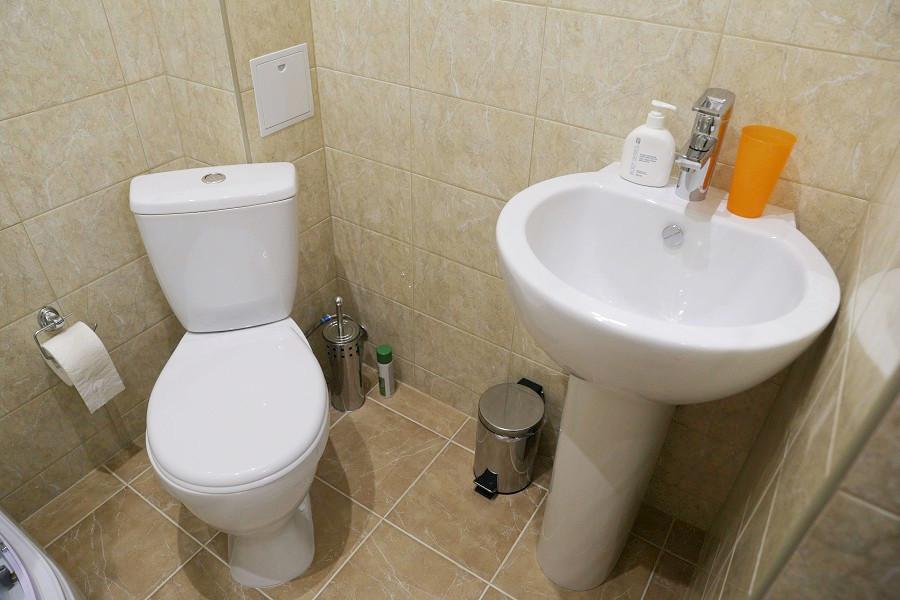 Туалетная комната номера Стандарт Плюс отеля ДжаНат, Сухум, Абхазия