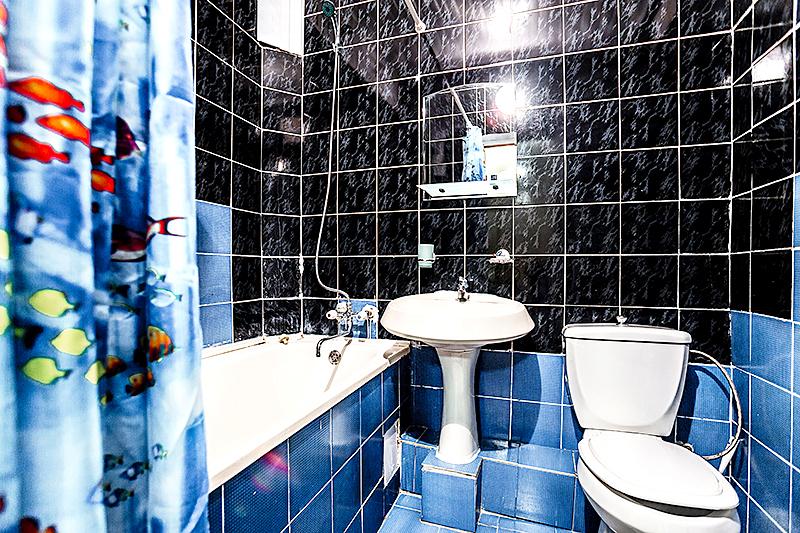Туалетная комната Улучшенного двухместного двухкомнатного номера пансионата Джемете
