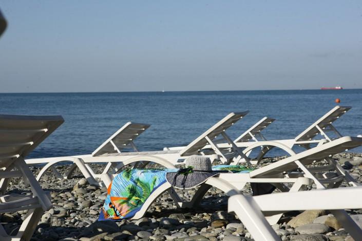 Пляж пансионата Эдем