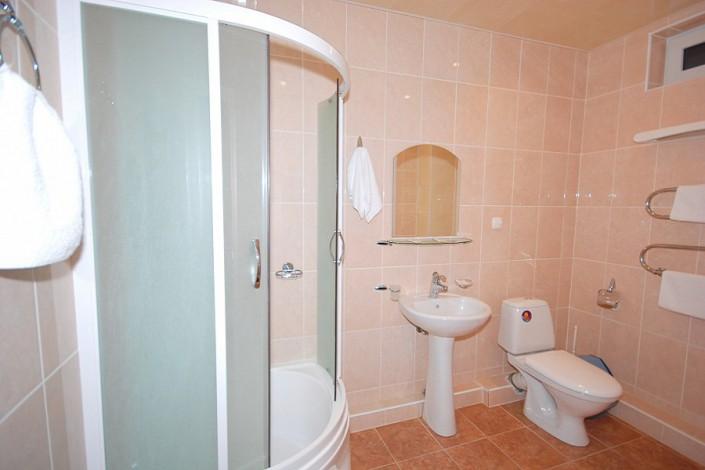 Туалетная комната в Стандартном номере отеля Экодом Сочи