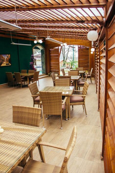 Веранда кафе City Lounge в отеле Экодом Сочи