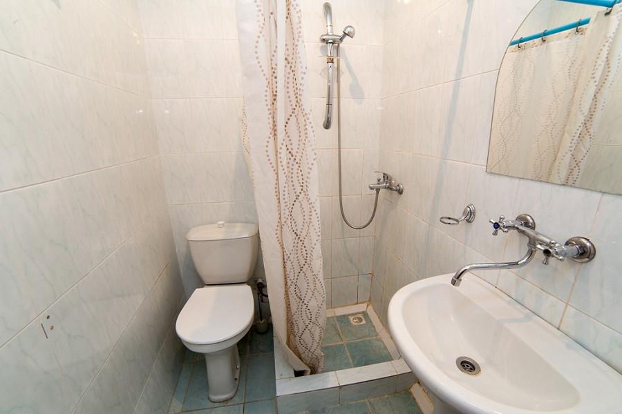Туалетная комната номера Эконом гостиницы Эллада