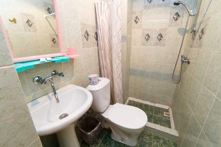 Туалетная комната в Стандартном номере гостиницы Эллада