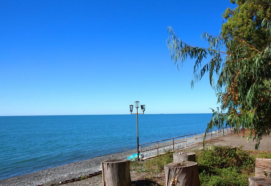 Пляж пансионата Эвкалиптовая роща, Кындыг, Абхазия