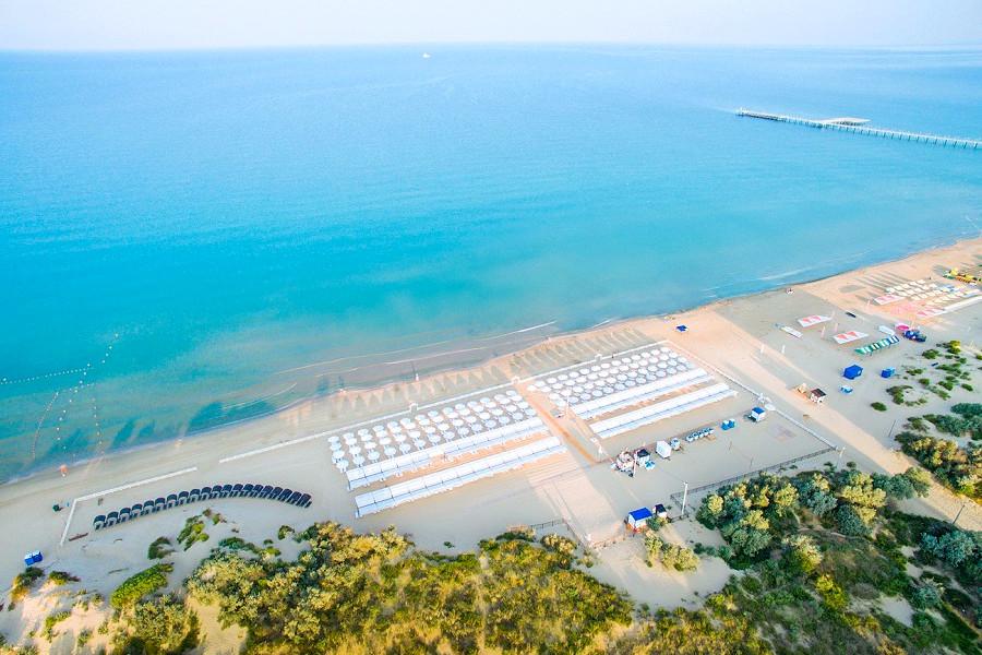 Пляж отеля Ривьера, Анапа