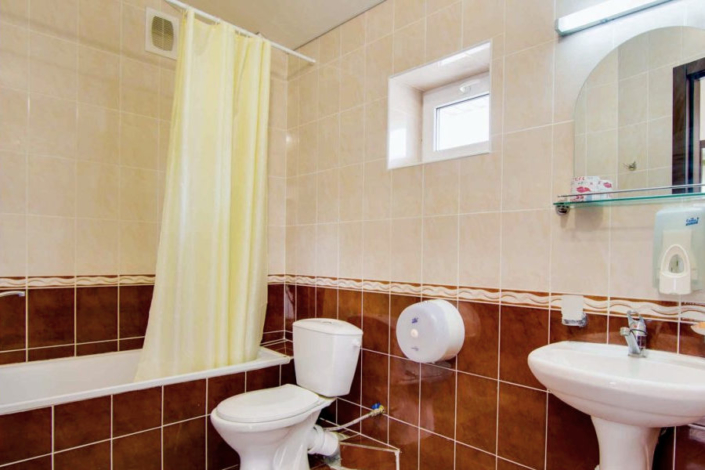 Туалетная комната в Апартаментах пансионата Фея-2