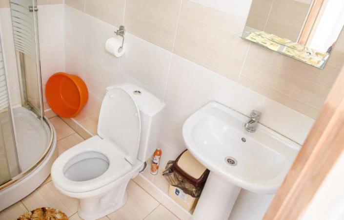 Туалетная комната Стандартного номера отеля Фотини