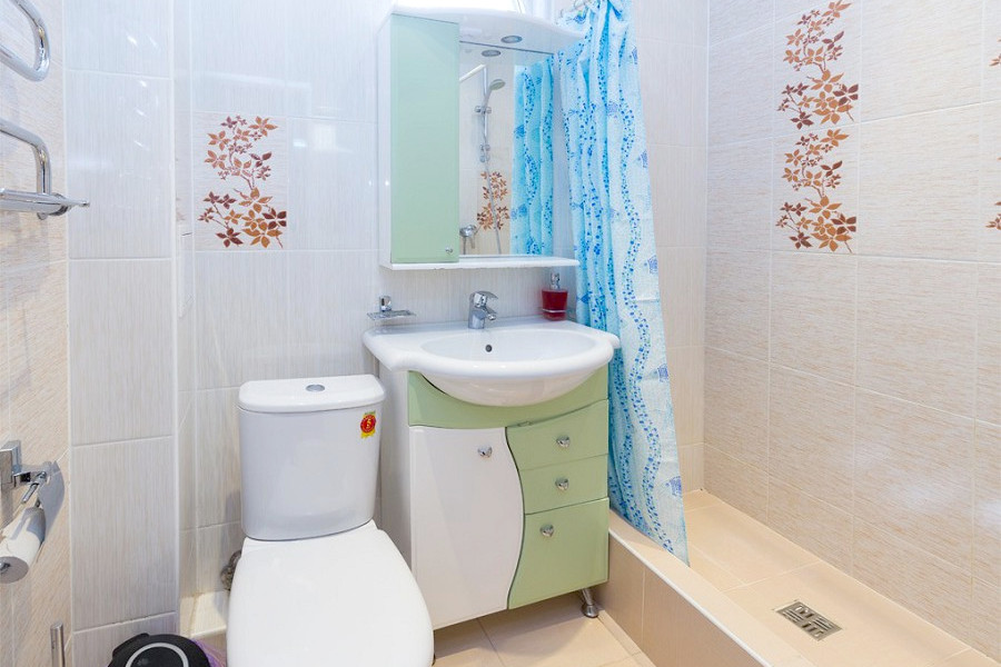 Туалетная комната номеров Эконом гостевого дома Гагра-Лазурная