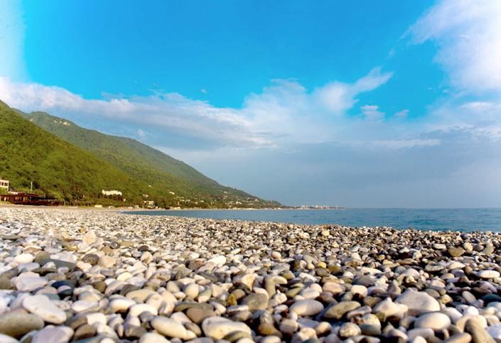 Пляж пансионата Гагра