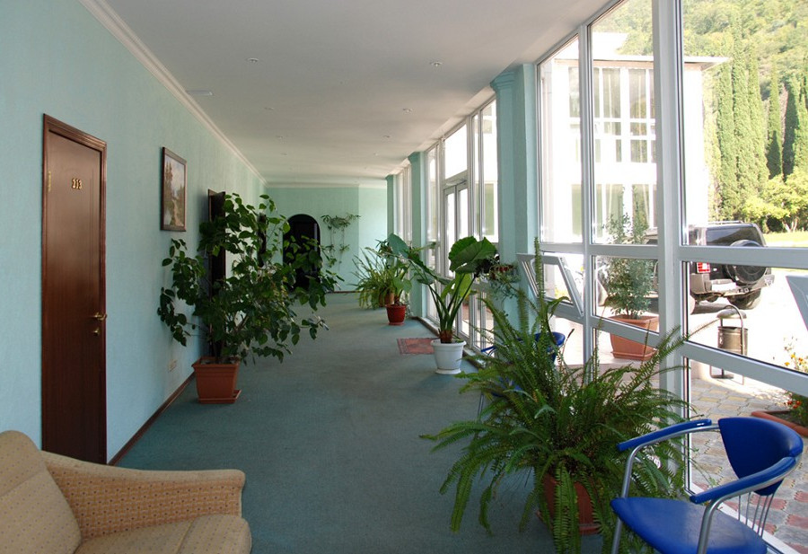 Холл Корпуса №3 пансионата Гагрипш, Гагра, Абхазия