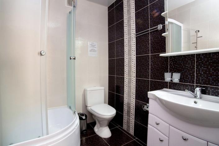 Туалетная комната номера Комфорт в отеле Gala Palmira