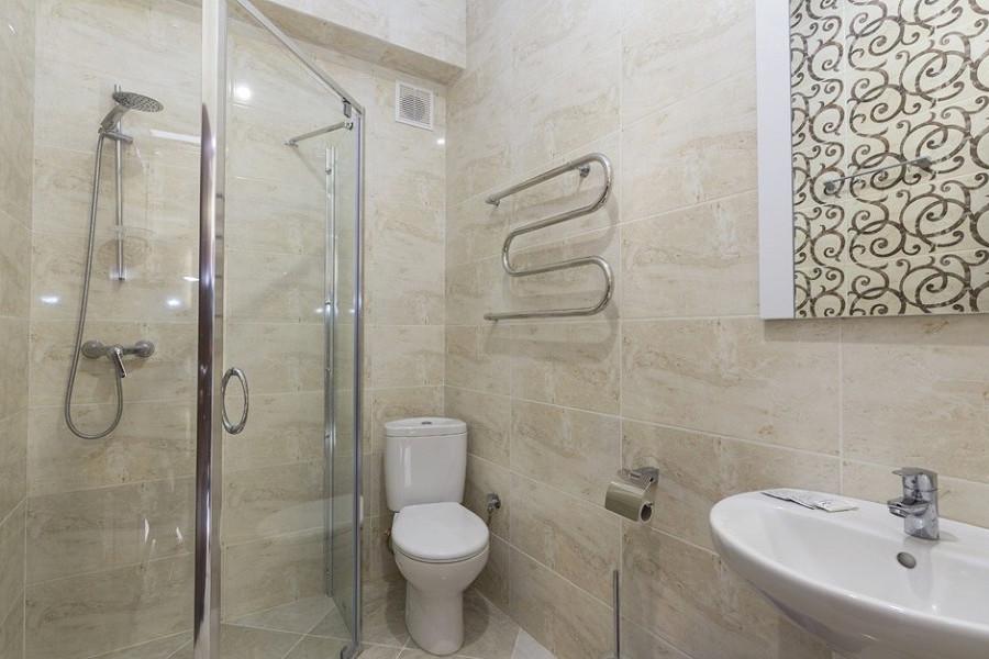 Туалетная комната номера Люкс в отеле Гега, Гагра, Абхазия
