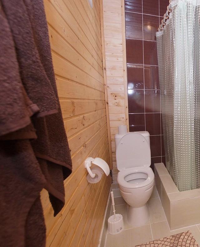 Туалетная комната Стандартного номера гостевого дома Глория, Лдзаа, Пицунда, Абхазия