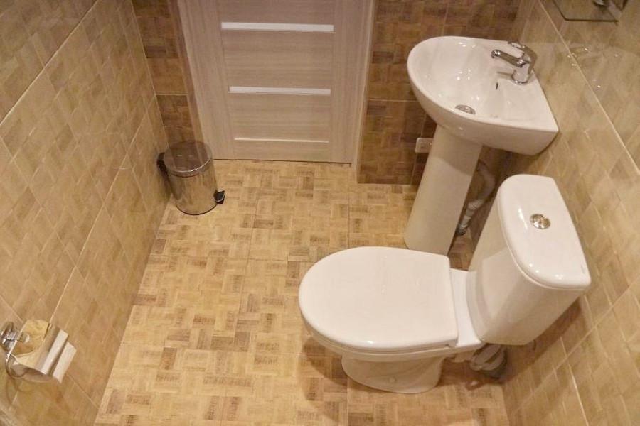 Туалетная комната Семейного номера мини-гостиницы Гнездо белой совы