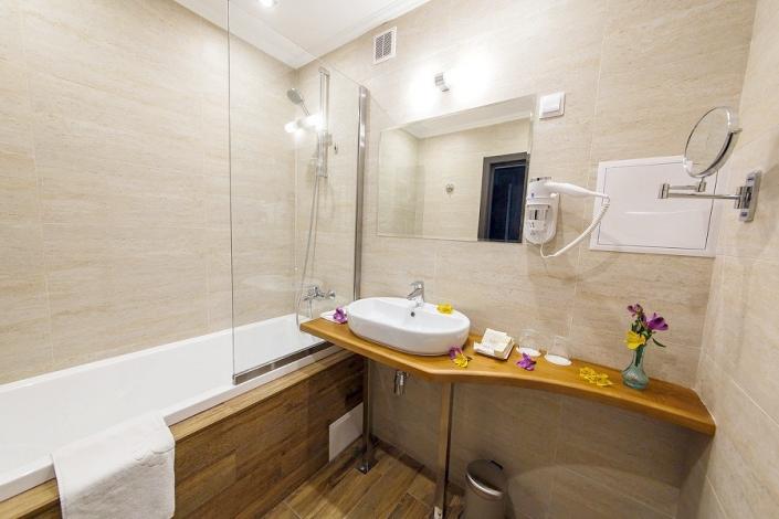 Туалетная комната номера Стандарт Улучшенный отеля Голубая лагуна