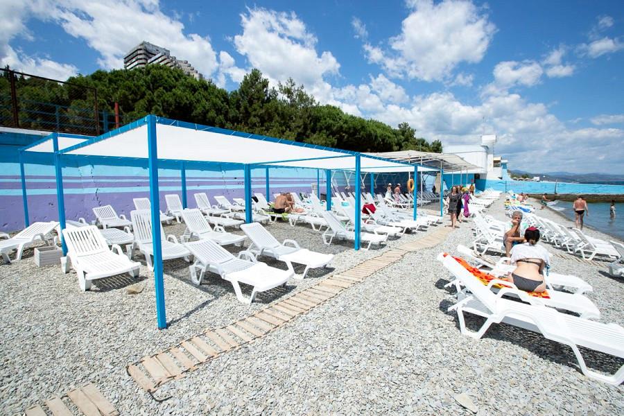 Пляж санатория Голубая волна