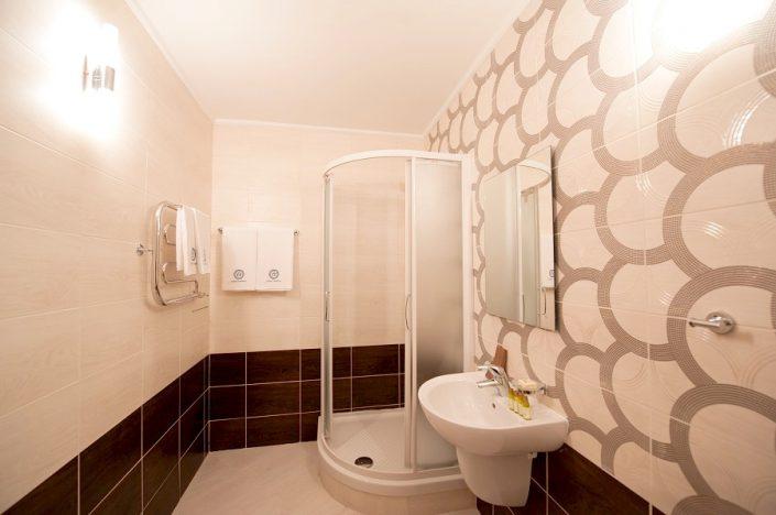 Туалетная комната номера Люкс апарт-отеля Горная Резиденция, Красная Поляна, Сочи