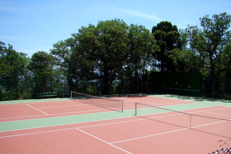 Теннисные корты на территории санатория Горный