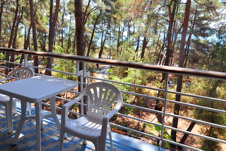 Балкон номера Люкс пансионата Госдача Лдзаа