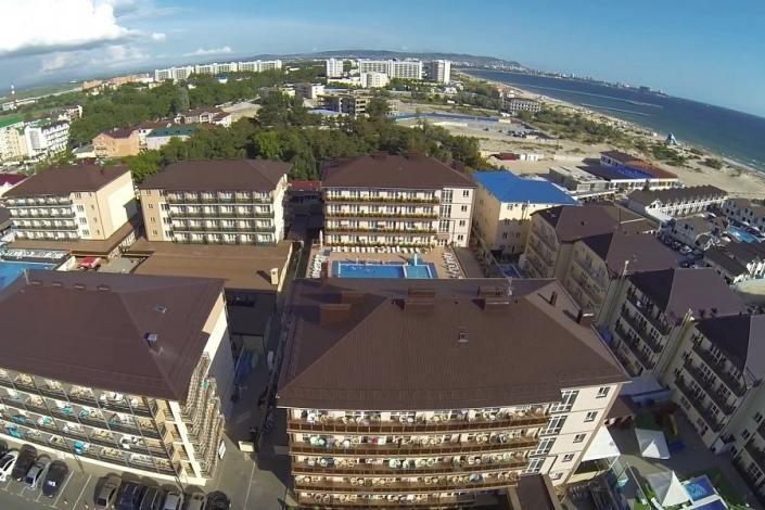 Вид на отель Гранд Прибой, Анапа