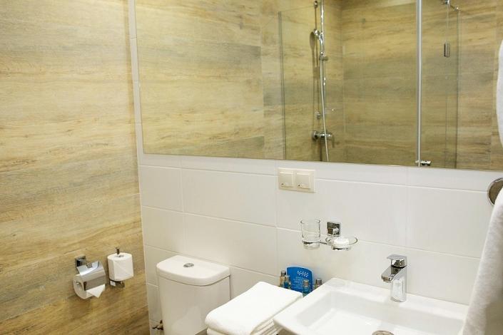 Туалетная комната номера Junior в Green Flow Hotel