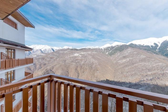 Вид с балкона номера Grand Premier в Green Flow Hotel