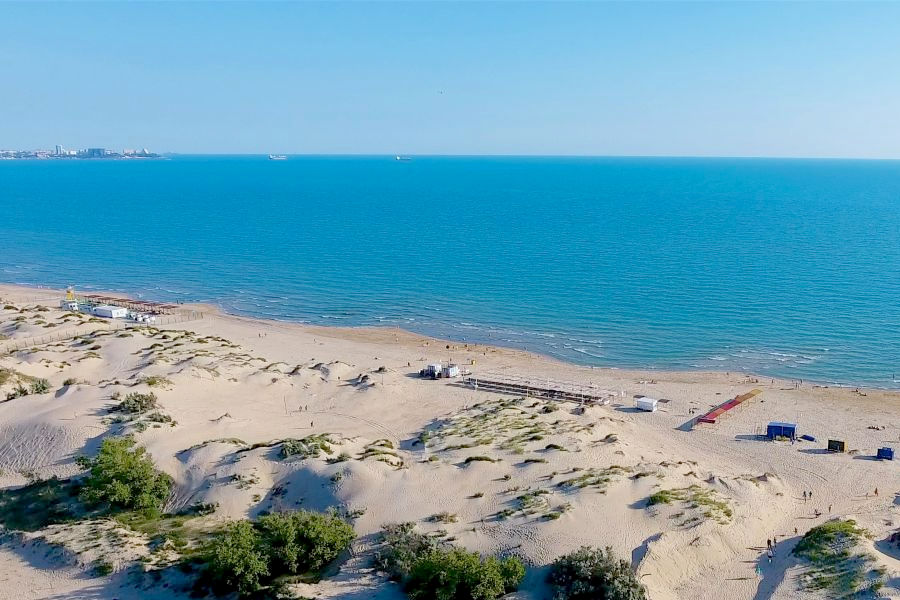 Пляж у Пионерского проспекта Анапы