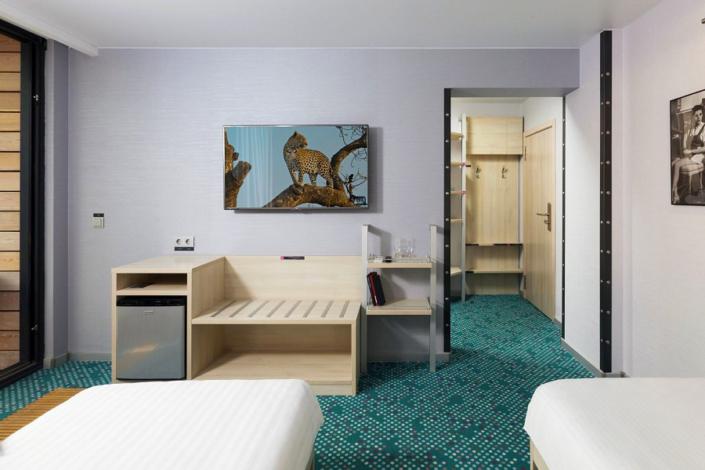 Улучшенный двухместный номер с раздельными кроватями отеля Грин Парк