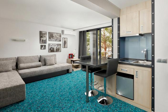 Апартаменты Студия двухместные с двуспальной кроватью отеля Грин Парк