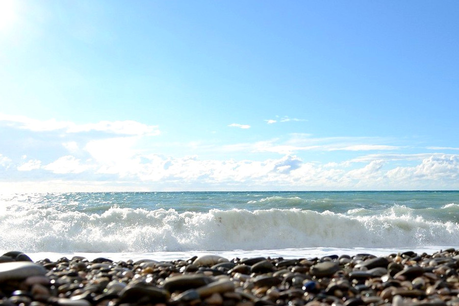 Пляж а Абхазии