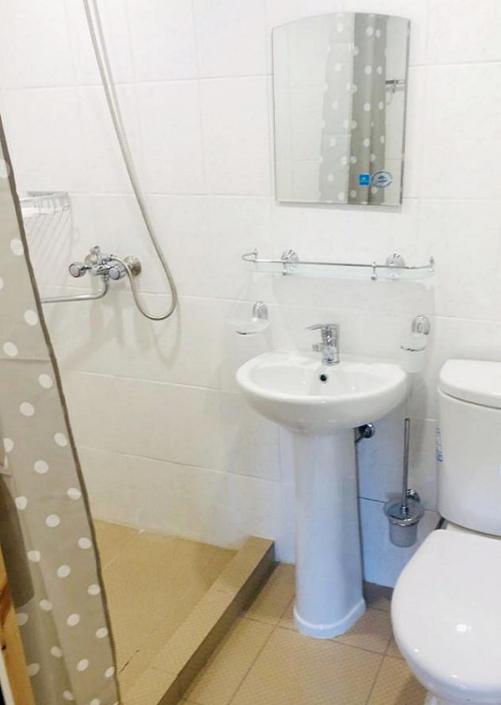 Туалетная комната в гостевом домике коттеджного комплекса Happy Land
