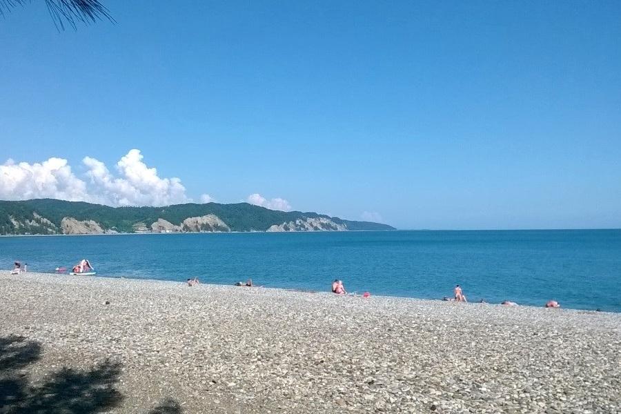 Пляж поселка Лдзаа, Пицунда, Абхазия