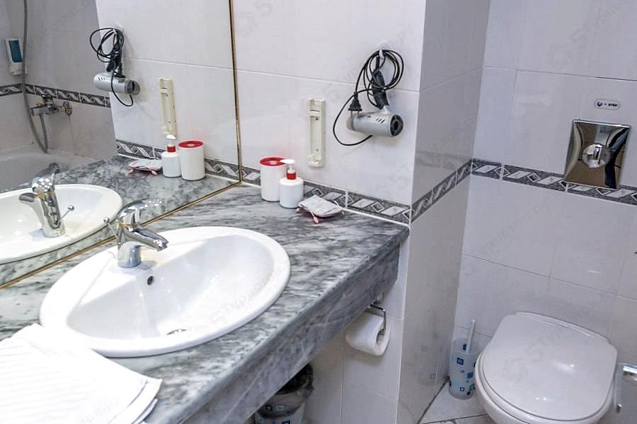 Туалетная комната Стандартного номера апарт-отеля Holiday
