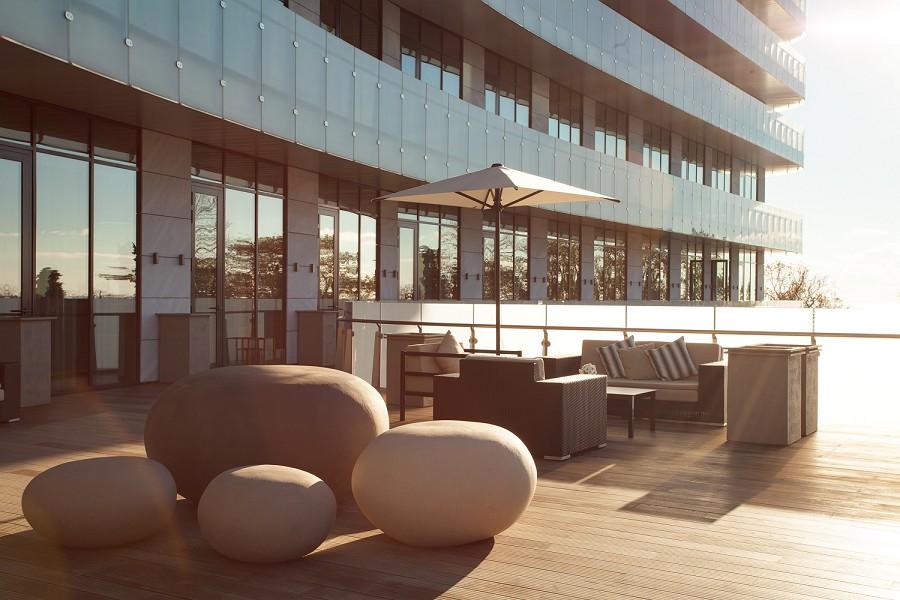 Терраса отеля Hyatt Regency Sochi