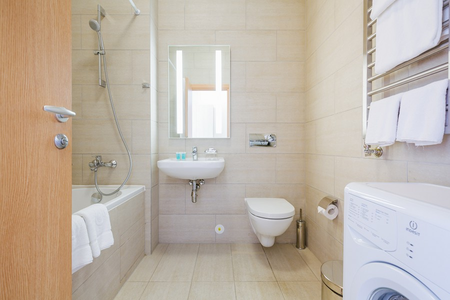 Ванная комната в апартаментах Заповедного квартала отеля Имеретинский