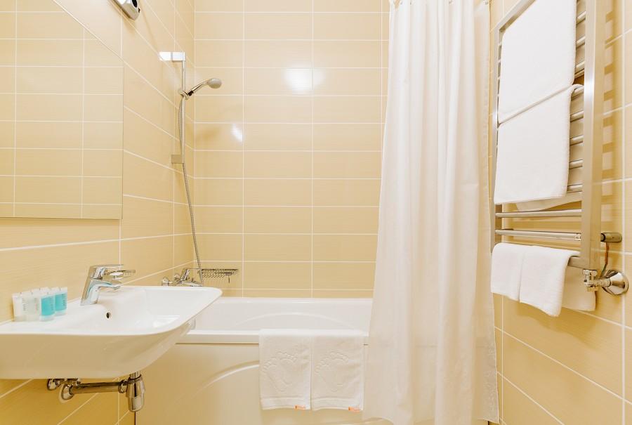 Ванная комната в апартаментах Прибрежного квартала отеля Имеретинский