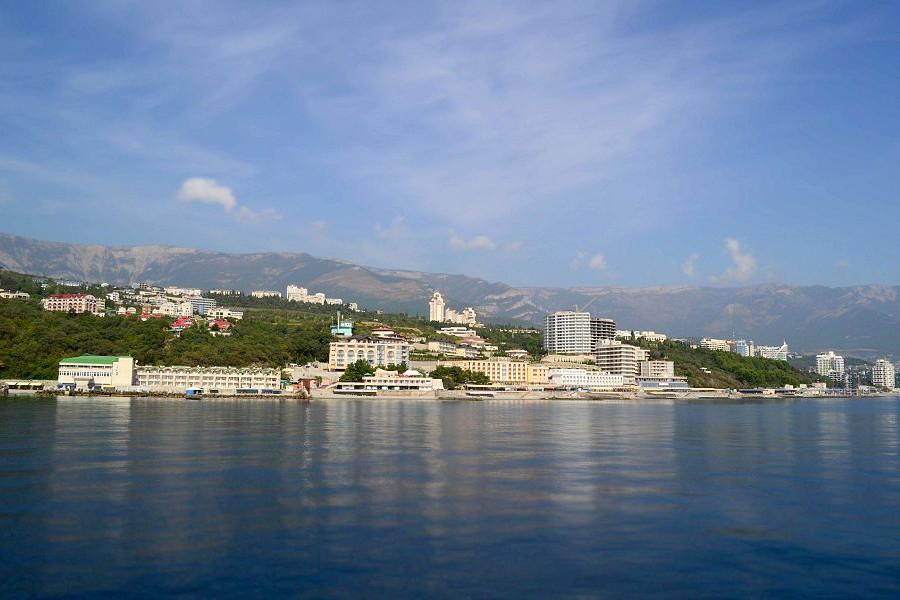 Вид на Ялту с моря, полуостров Крым