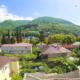 Вид на горы из номера отеля Индисан