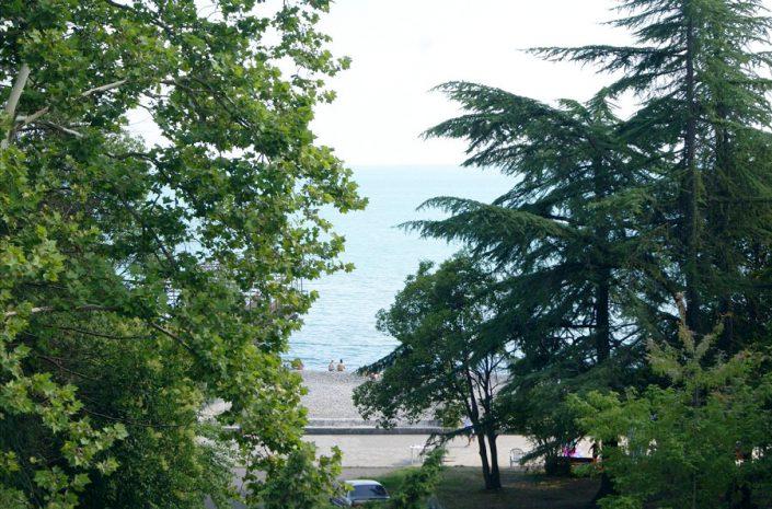Вид с балкона номера гостиницы Интер-Сухум, Абхазия