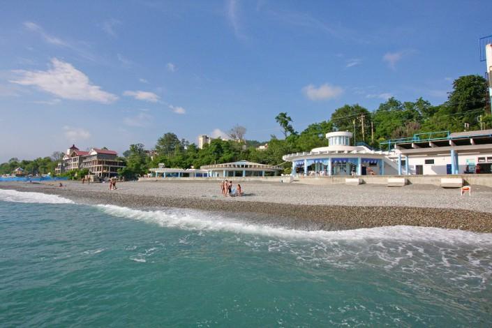 Пляж санатория Ивушка