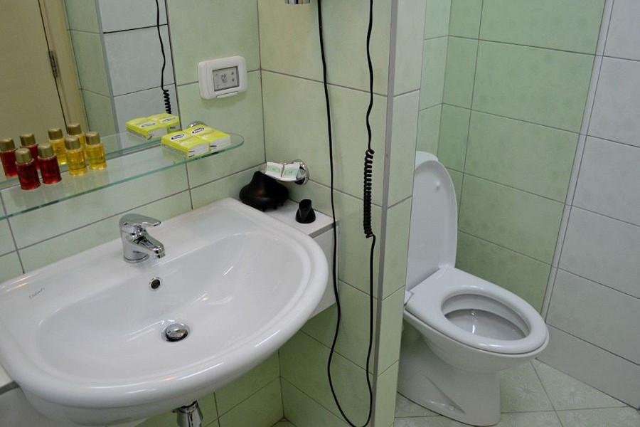 Туалетная комната номера Эконом пансионата Изумруд, Сочи